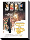 Posters: James Bond 007 Stretched Canvas Print - The Man With The Golden Gun (16 x 12 inches)