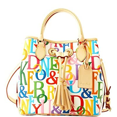 Dooney & Bourke Dooney & Bourke Grafica DB Retro Small Handle Drawstring Tote RV892 (White)