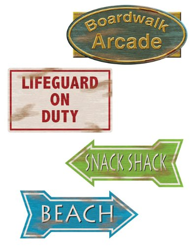 Beistle Company 30173 Beach Sign Cutouts 4 count