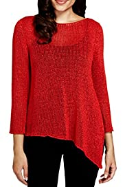 Per Una Asymmetric Hem Knitted Top [T62-0323K-S]