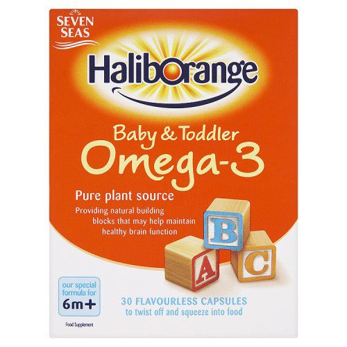 Seven Seas Haliborange Baby & Toddler Omega-3 30 Flavourless Capsules