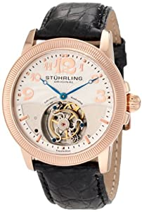 Stuhrling Original Men's 350.33452 Tourbillon Destiny Limited Edition Black Leather Strap Watch