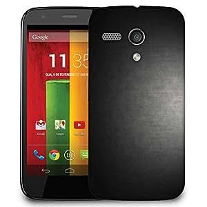 Snoogg Matt Black Floor Design Designer Protective Phone Back Case Cover For Motorola G / Moto G