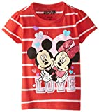 Disney Mickey and Minnie Mouse Love and Hugs Tee for Baby Girls
