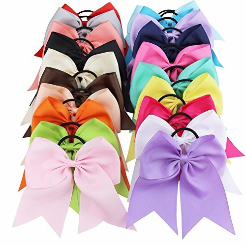 feeshow-boutique-20-pcs-6-big-bow-hair-ties-band-barrettes-for-kids-girls-women