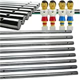 Set of 8 Solid Foosball Rods for Foosball Table