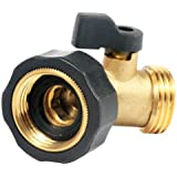 Camco 20173 Water Connector With 45 Degree Valve (Brass)