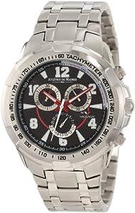 432841-58 Men viceré Nero cronografo in acciaio inossidabile , Funzione Data [Orologio]