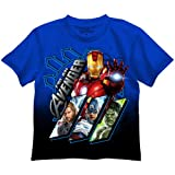 The Avengers Blue T-Shirt アベンジャーズ青いTシャツ♪ハロウィン♪サイズ:7