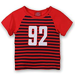 Lilliput Frisk Tshirt (8907264055574_Red_9-12 Months)