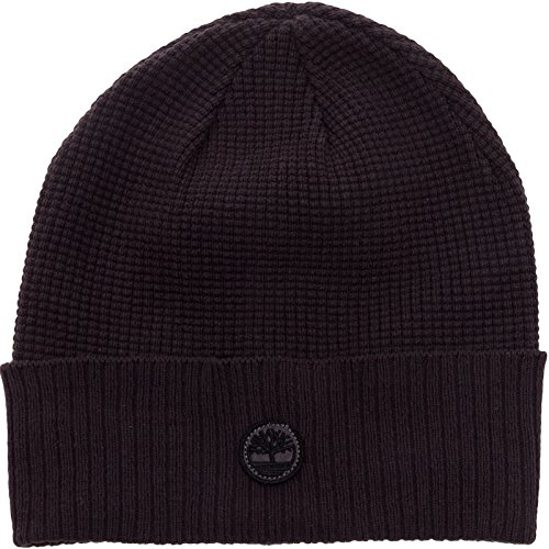 Timberland Ribbed Knit Beanie - Mens Waffle Knit Cuff Watchcap (Charcoal)