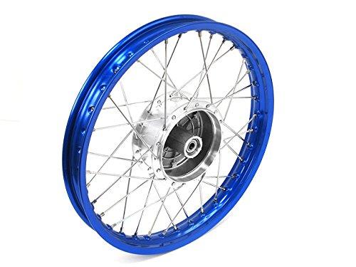Roue-rayons-Jante-en-bleu-rayons-Tuning-en-chrome-et-moyeu-16-tous-les-types-de-Moped