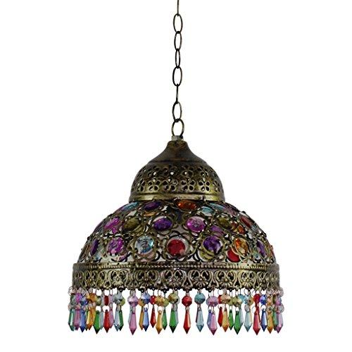 casa Monopoli Rétro Il Mar Mediterraneo lampadario Chandelier in rilievo acrilico del paralume -E14 ( colore : Brass )