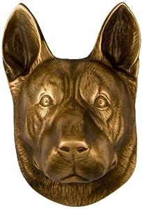 Michael Healy Designs MHDOG05 German Shepherd Dog Knocker, Bronze