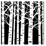 Crafters Workshop Framing Template, 6 by 6-Inch, Aspen Trees