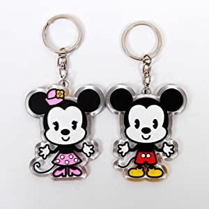 mickey minnie mouse porte clef porte cl couple amazon. Black Bedroom Furniture Sets. Home Design Ideas