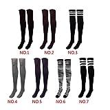 "20"" Schule Style Cosplay Uni Damen-Kniestrümpfe Baumwolle Streifen Knee High"
