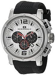 Oceanaut Mens OC2120 Spider Analog Display Quartz Black Watch
