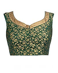 Green Colour Fancy Printed Blouse Material