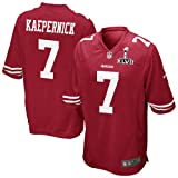 Super Bowl XLVII Colin Kaepernick RED Jersey San Francisco 49ers NFL Jersey (alphabet number is Sewn) (52)