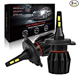H11 LED Headlight Bulbs,AutoFeel(H8 H9) Super Bright Car Bulbs Fanless 4000LM IP65 6500K White Light High/Low Beams Waterproof Fog Lights All-in-One Conversion Kit -1 Year Warranty (Tamaño: H11/H9/H8)