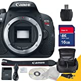 Canon EOS Rebel T5i Body Only with 16GB SDHC Class 10 High Speed Memory Card with USB SD Card Reader, Camera Case with Rain Protection and 5AveCamera Cloth