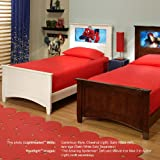 LightHeaded Beds Canterbury Twin Bed - White (Chestnut Sold Separately)