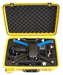Microraptor Pro Case cusotmized to fit the 3D Robotics Iris+ and accessories (Yellow Case, Black Foam)
