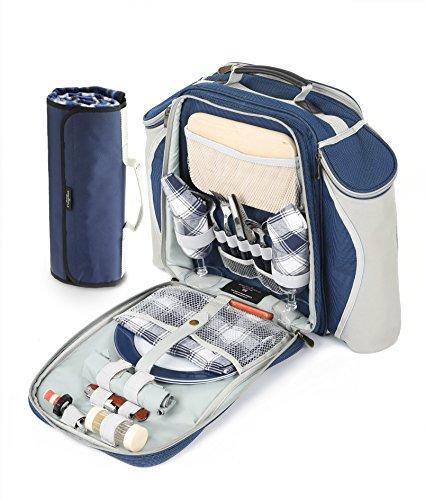 greenfield-collection-deluxe-mochila-y-manta-de-picnic-para-dos-personas-color-azul-marino