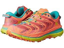 Hoka One One Women\'s Speedgoat Shoe (9.5, Neon Coral)
