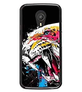 Colourful Cheetah 2D Hard Polycarbonate Designer Back Case Cover for Meizu M2 Note :: Meizu Blue Charm Note2