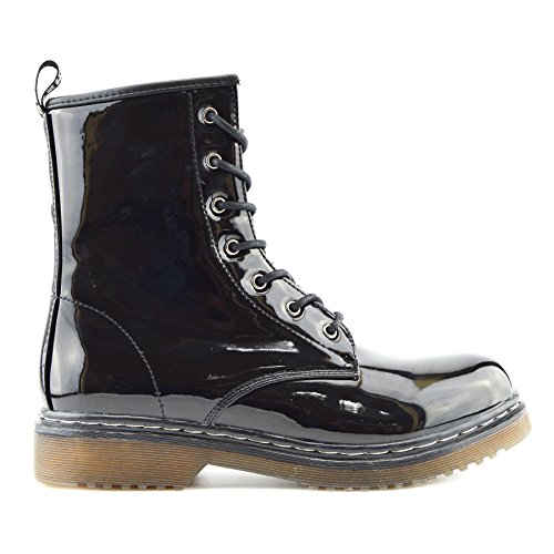 Kick Footwear Donna Bambina Stivali Combat nero Size: 37.5