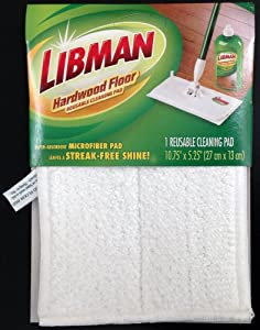 Libman 2050012 Reusable Wet and Dry Microfiber Hardwood Floor Cleaning Pad