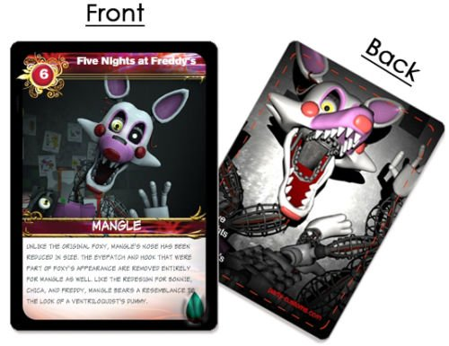 [FNAF Five Nights at Freddy's Trading Card Set FNAF INCLUDES NEW MANGLE CARD] (Five Nights At Freddys Costume Mangle)