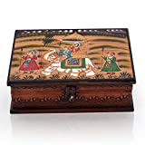 Wooden Hand Painted Dhola Maru Jewellery Box