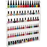 (102 Bottles) 6 Shelf Pro Clear Acrylic Nail Polish Rack / Salon Wall Mounted Organizer Display - MyGift®