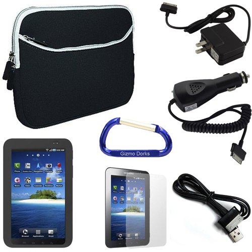 Gizmo Dorks neooprene Super Bundle (Nero/Fumo) con moschettone portachiavi in silicone per il Samsung Galaxy Tab