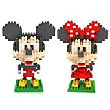 Gooband®Mickey and Minnie - LOZ Nanoblock Disney Mickey Collection Pack of 2