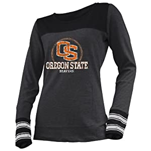 NCAA Oregon State Beavers Ladies Striped Long Sleeve Tee by Ouray Sportswear