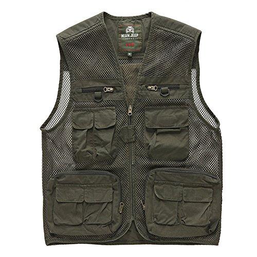 Cccken Men's Outdoor Field Mesh Hunting Fishing Travel Air Vest