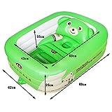 Global- reci�n nacido plegable suministra ba�eras neonatal piscina port�til para ni�os ba�era de beb� inflable de la piscina para ni�os ( Color : Verde )