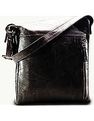 Twach Leather Cross Body Bag (Black)