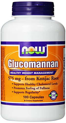 Now Foods Glucomannan 575mg, Capsules, 180-Count