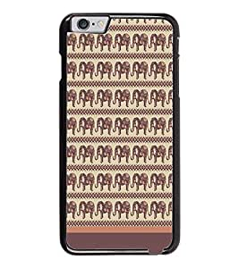 PrintDhaba Elephant Pattern D-1904 Back Case Cover for APPLE IPHONE 6 (Multi-Coloured)
