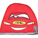 Disney Cars Boys Reversible Red & Gray Stocking Cap beanie Hat