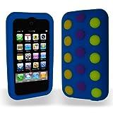 iPhone 3G 3GS ケース チョコレートビーンズ やわらかいシリコンケース ブルー 液晶保護フィルム付  送料無料