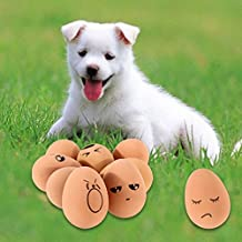 Alcoa Prime Shipping Creative Emotion Egg Pattern Dog Chewing Toy Playing Bouncy Ball Pet Toy Promotion