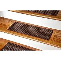 Dean Indoor/Outdoor Pet Friendly Tape Free Non-Slip Carpet Stair Step Treads - Tybee Island Brick 23
