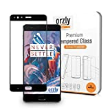 Orzly - 2.5D Pro-Fit Tempered Glass Screen Protector for Oneplus 3 ワンプラススリー対応 全面スクリーンカバー強化ガラス保護フィルム