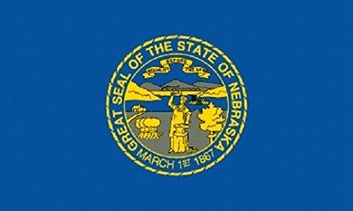 U24 Aufkleber Nebraska Flagge Fahne 8 x 5 cm Autoaufkleber Sticker